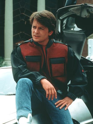 """Michael J. Fox stars in a scene from """"Back to the Future II."""""""