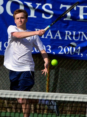 Dallastown's David Trimmer earned a 6-2, 6-4 victory at No. 3 singles on Tuesday vs. Manheim Central.