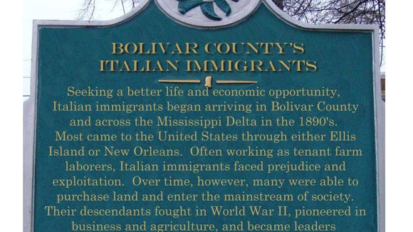 The rich Italian heritage of the Mississippi Delta will be acknowledged with a historic marker in Bolivar County.