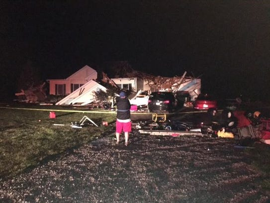 John and Susan Cooper of Hook Road lost the roof to