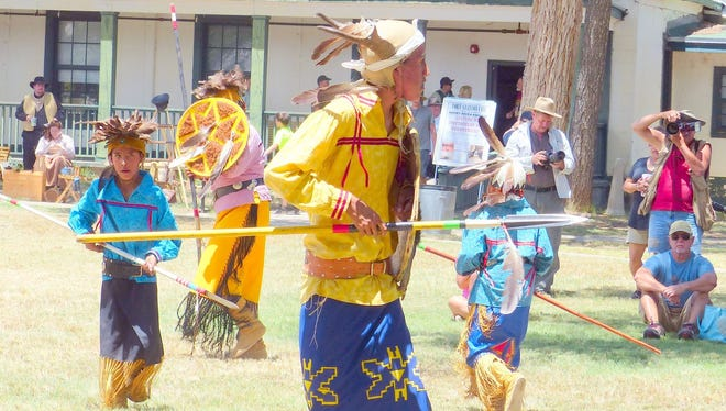 Mescalero Apache dancers perform at Fort Stanton LIVE.