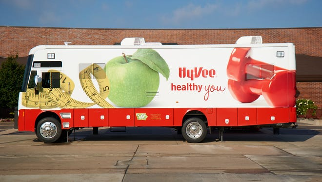 A Hy-Vee Healthy You Mobile is shown in a recent publicity photo. Springfield's store will host one in Feb. for a morning of free health screenings.