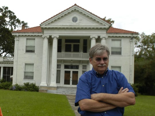 This Town Talk file phot from 2007 shows Paul Smith  in front of the Thompson-Hargis Mansion on Florence Avenue in Alexandria. It since was destroyed in a fire.