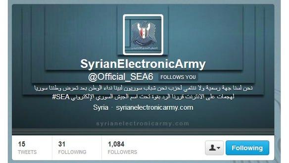 Syrian hackers' logo