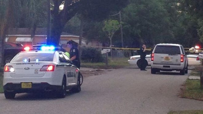 LCSO activity on Fairfax Road off of Palm Beach Boulevard Monday.