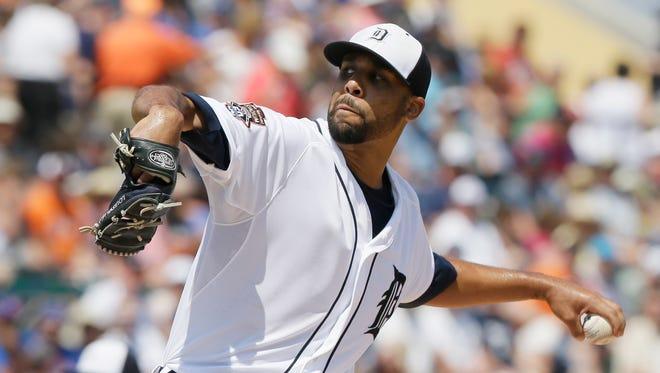 Detroit Tigers starting pitcher David Price.