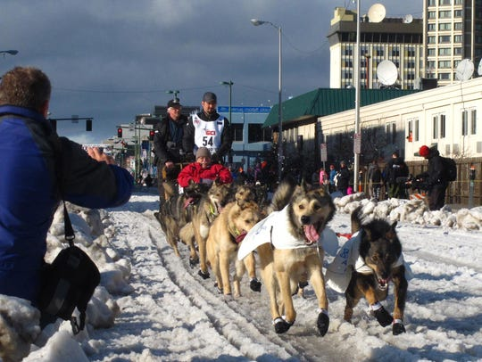 In this March 7, 2015, file photo, musher Peter Kaiser,