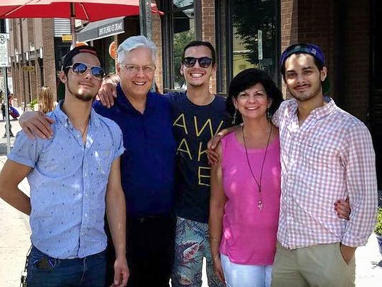 Jon and Janet Summers with their three sons: Branson