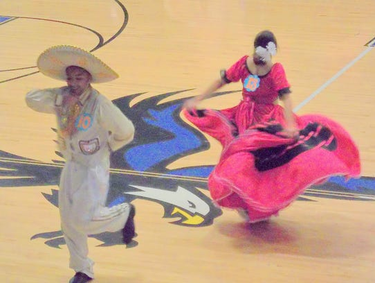 Performers give it their all at the Hondo Fiesta.