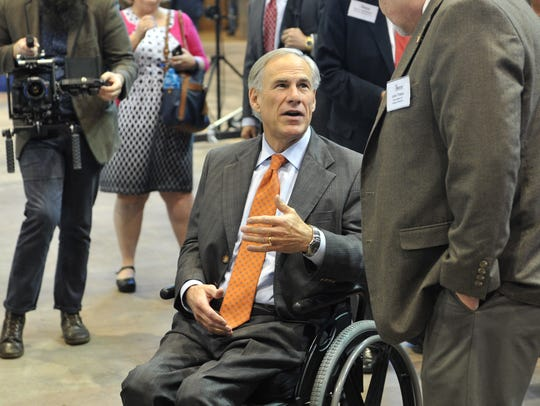 Texas Governor Greg Abbott spoke with members of the oil and gas industry shortly before going on stage as the featured speaker at the Texas Alliance of Energy Producers Wednesday morning held at the Kay Yeager Coliseum.