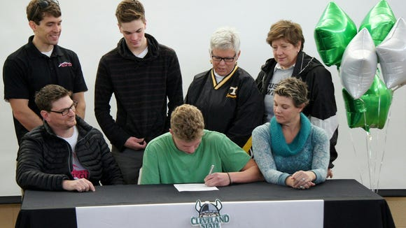 Tuscola senior Jack MacDonald has signed to swim in college for Cleveland State.