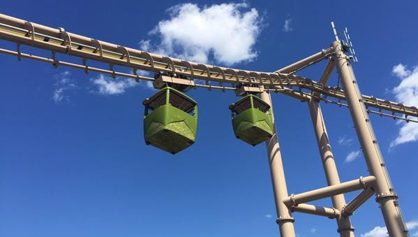 For the second time in less than two months, passengers needed to be rescued after the Indianapolis Zoo's Skyline ride became stuck.