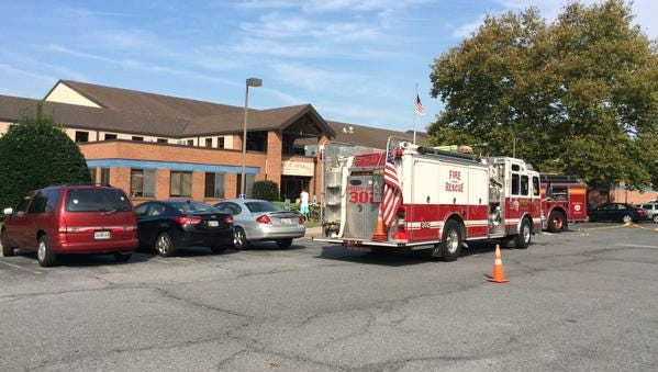 The YMCA in Salisbury was evacuated Sunday afternoon. There were no injuries and no flames, but some smoke inside.