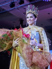 Contestant Aria Perez Theisen is crowned 2015 Miss World Guam during the pageant held at the Sheraton Laguna Guam Resort on Wednesday, Sept. 23.