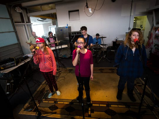 The Imagine Band rehearses on Tuesday in Aztec. The band is comprised of students from Aztec's C.V. Koogler Middle School.