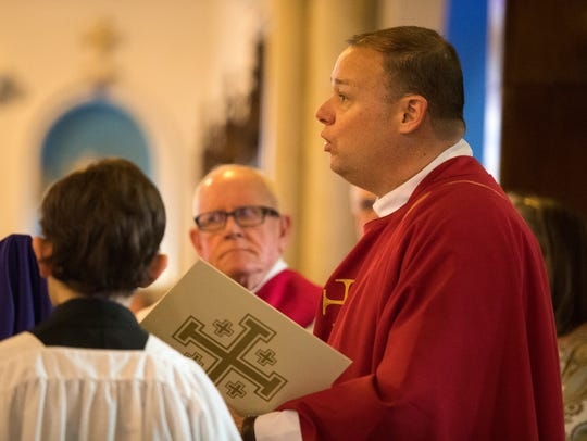 Diocesan Vicar General Msgr. Steven Hurley speaks during