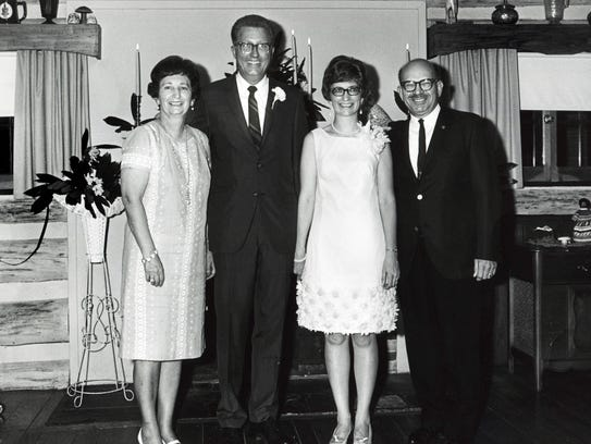 On their wedding day in 1968, retired News Sentinel
