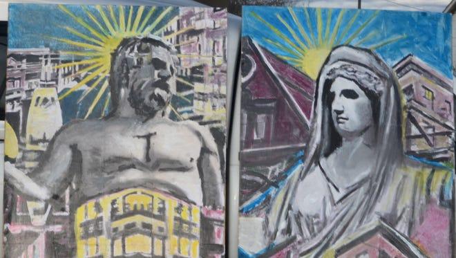 Greek Gods Hephaestus and Hestia breathe new life into the Staunton skyline.