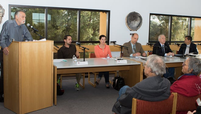 Panelists for the Sunshine In The Shade event held at Zuhl Library on the NMSU campus.