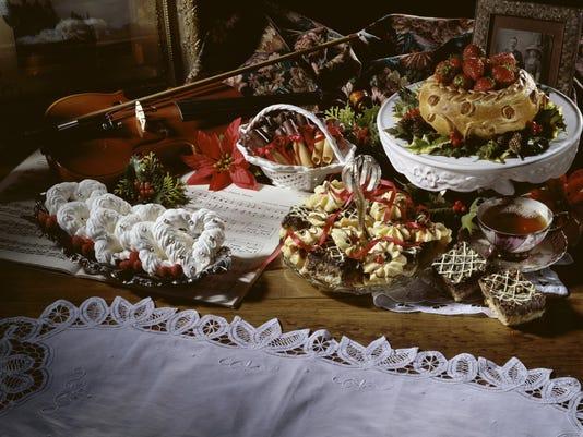 Assortment of sweet foods