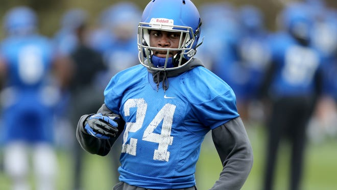 University of Memphis defensive back Tito Windham during a recent team practice.