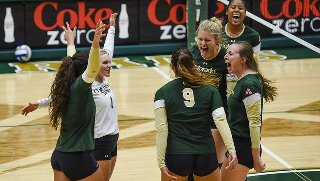 The CSU volleyball team will celebrate winning its seventh Mountain West title in a row after Saturday's match against Fresno State.