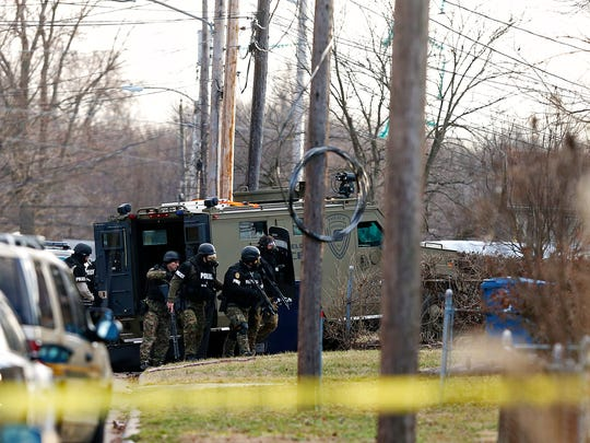 Springfield Police engaged in a standoff after attempting to arrest a man in his house on the 1200 block of North Forest Ave. in Springfield, Mo. on Jan. 25, 2017. The standoff ended when police found the man inside the residence from what appeared to be a self-inflicted gunshot wound.