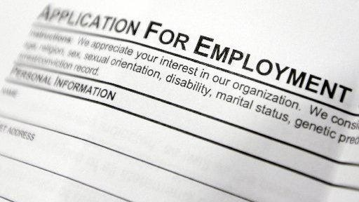 Application for employment form.