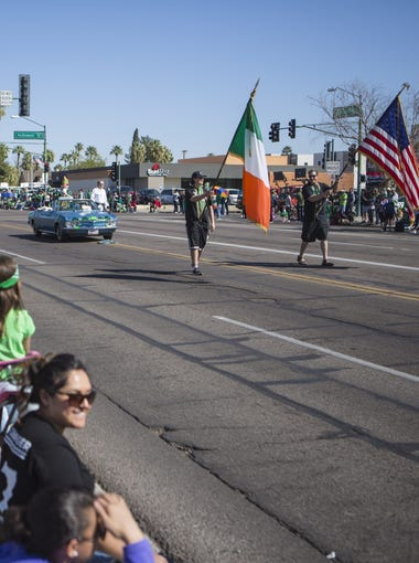 The 2018 St. Patrick's Day Parade takes place on Saturday, March 18, in the streets of downtown Phoenix.