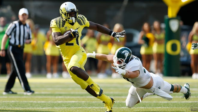 Royce Freeman and Oregon are 3.5-point underdogs against Michigan State.