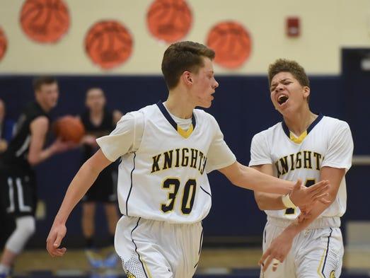 The Eastern York High School Knights' scored a 51-42