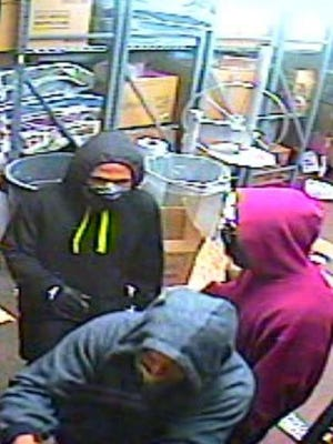 The three men suspected to have committed the recent robberies at McDonald's and the Cracker Barrel.