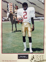 A photo sent to Ron Hoover at North Fort Myers High School after Deion Sanders began playing at Florida State.