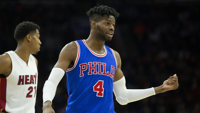 Philadelphia 76ers forward Nerlens Noel (4) was traded to the Dallas Mavericks on Thursday, according to multiple reports.