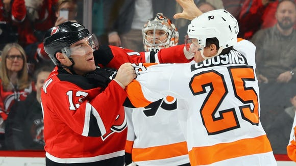 The Flyers and Devils have dropped the gloves a few
