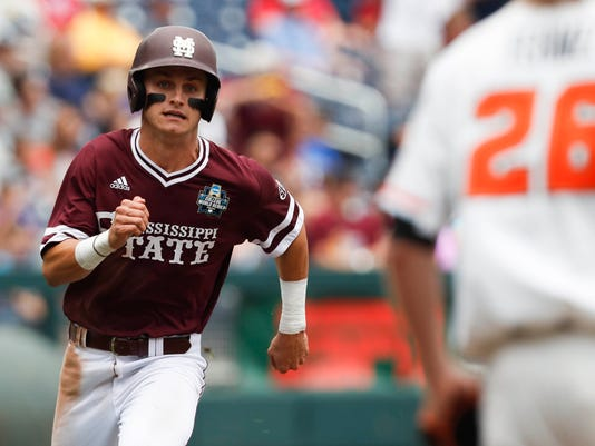 NCAA Baseball: College World Series-Mississippi State vs Oregon State