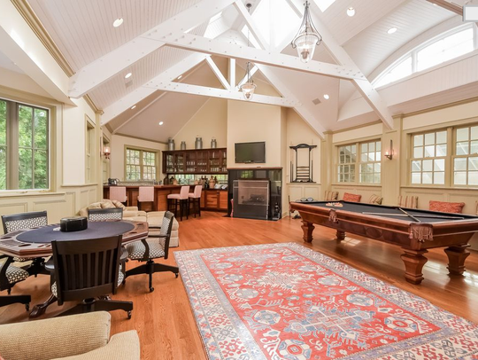 The game room was a 2008 addition to a 1928 Rye colonial.
