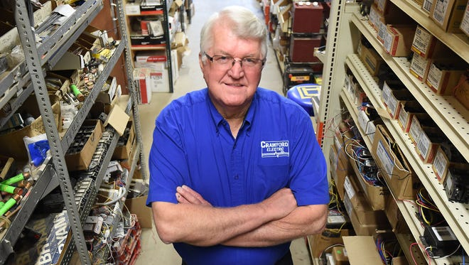 Bob Crawford began his electrical services business 50 years ago in a small garage at his home at 515 East 1st Street.