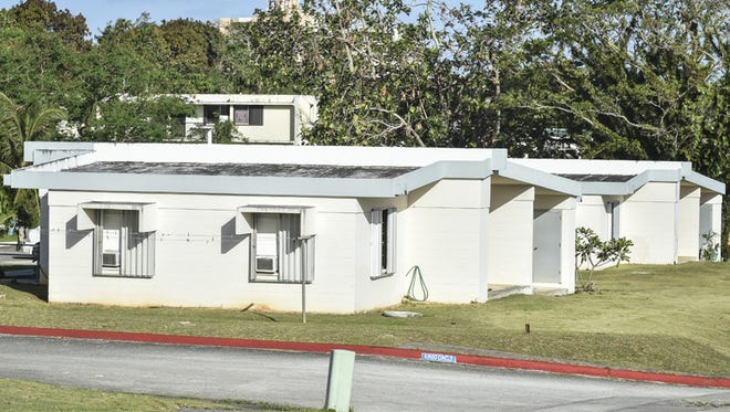 Residential homes built in Sinajana under a Guam Housing and Urban Renewal Authority project are shown on June 1.