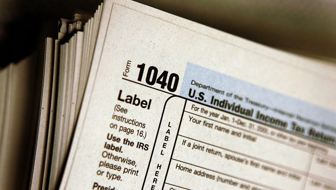 The top of a Form 1040 individual income tax return for illustrative purposes.