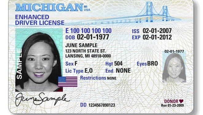 Enhanced Michigan driver's license