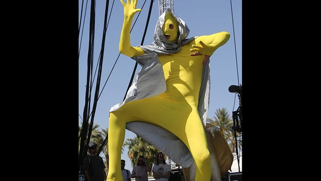 STRFKR performs during the third day of the Coachella Valley Music and Arts Festival in Indio, CA, Sunday, April 13, 2014.