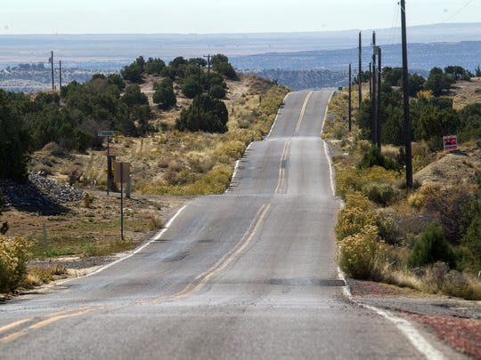 A section of Foothills Drive is pictured on Tuesday in Farmington.