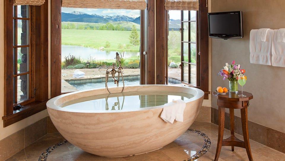 This five-bedroom villa in Jackson Hole, Wyo., sleeps