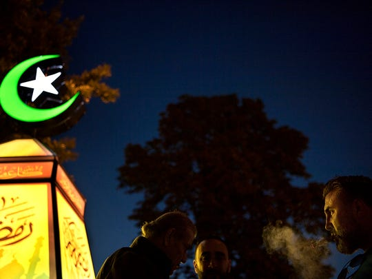Local leaders and members of Paterson's Muslim community held a fanoos lighting ceremony to usher in the holy month of Ramadan on May, 26, 2017.