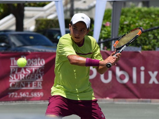 former Mardy Fish Children's Foundation pupil Emilio van Cotthem of Fort Pierce will be competing in the qualifying tournament at the Mardy Fish Children's Foundation Tennis Championships $15,000 U.S. Tennis Association Pro Circuit event at Grand Harbor Golf & Beach Club.