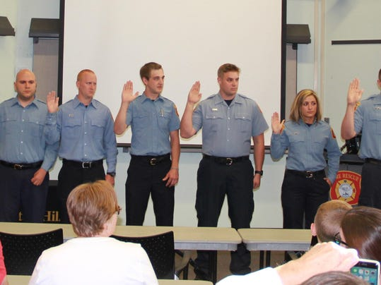 Probationary Fire Fighters Sworn In