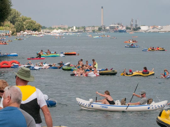 Floaters travel down the St. Clair River during floatdown