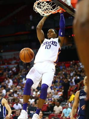 Shaquille Harrison is one of four point guards for the Phoenix Suns in this season's training camp.