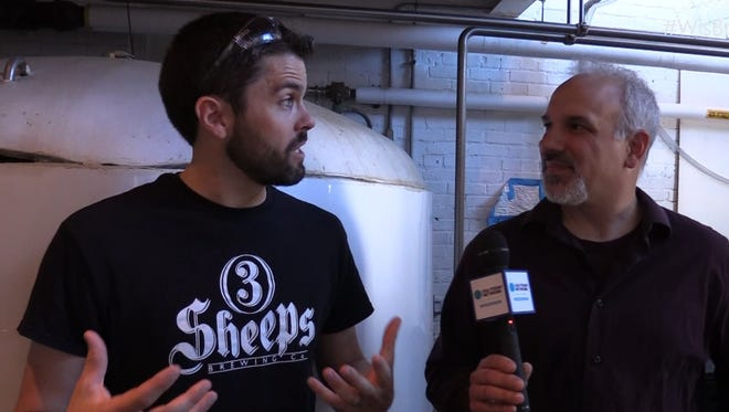 Grant Pauly (left) and his team at 3 Sheeps Brewing are following the people's mandate to brew an amber ale as The People's Beer.